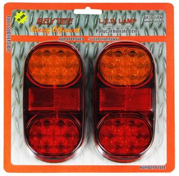 (190370) Roadvision LED BR202 10 - 30Volt Twin Pack Combination Lamps
