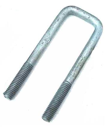 (702340) Square Galvanized U-Bolt  45mm I.D x 150mm